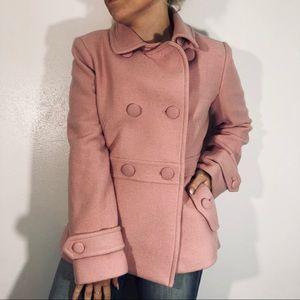 Pink Talbots Pea Coat